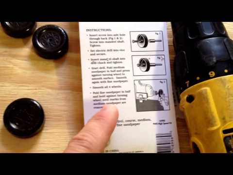 How To Make Pinewood Derby Wheels Fast By Polishing