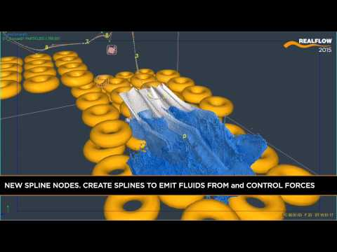 RealFlow 2015 Features: SPLINES