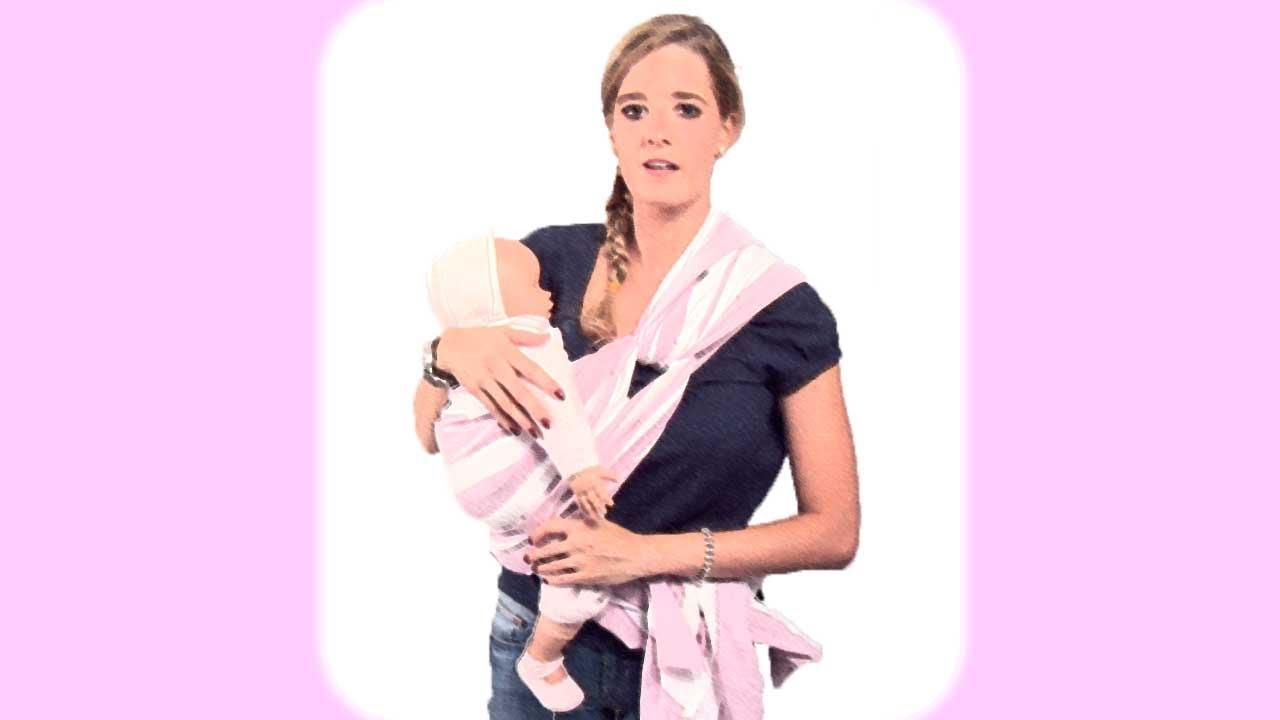Llevar al bebé en un fular con nudo en la cadera. Porteo - YouTube 6af6fae0352