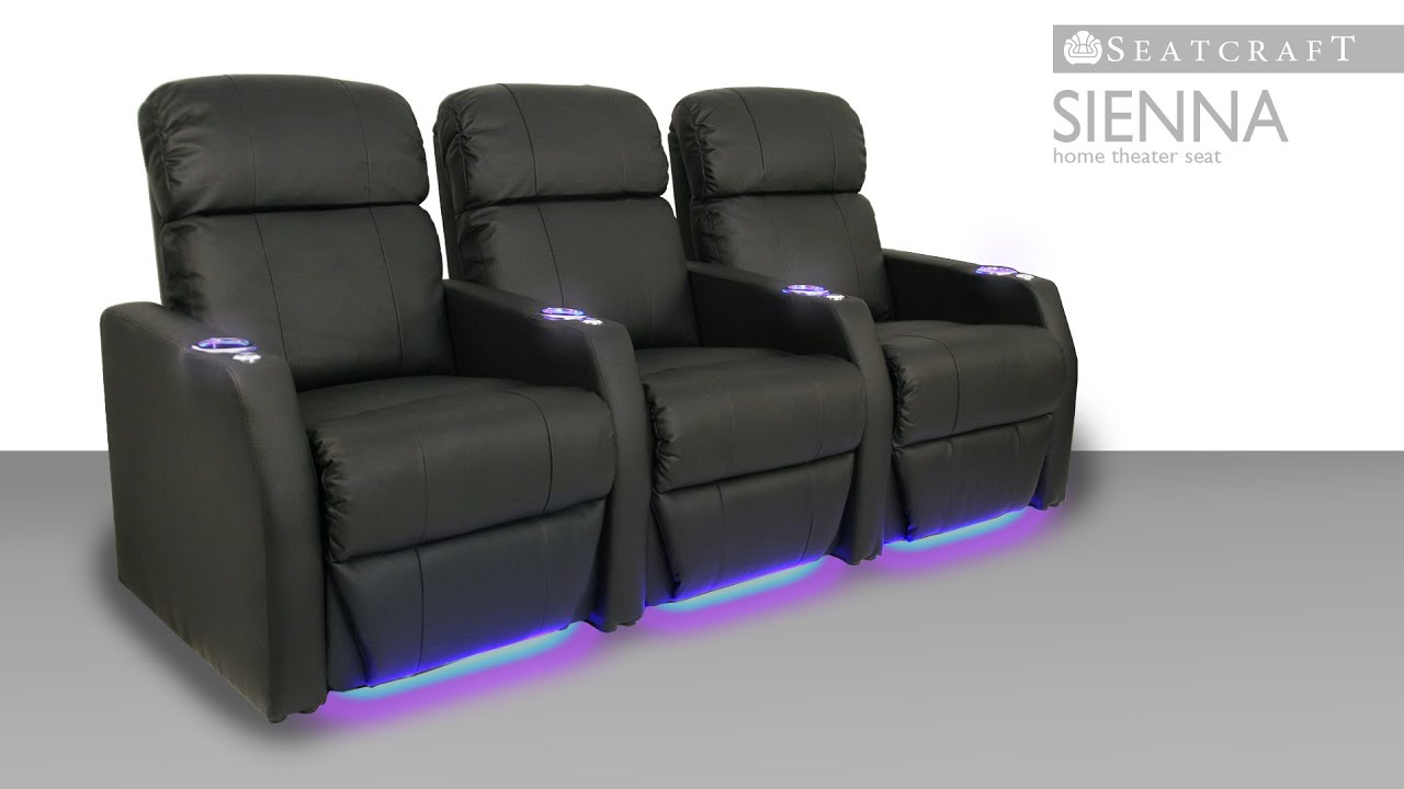 Theater Chairs Home Entertainment Oversized Chair Sleeper Seatcraft Sienna Seats Youtube