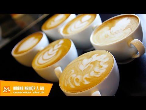 Dạy pha chế café latte, capuchino, café mocha - Hướng Nghiệp Á Âu