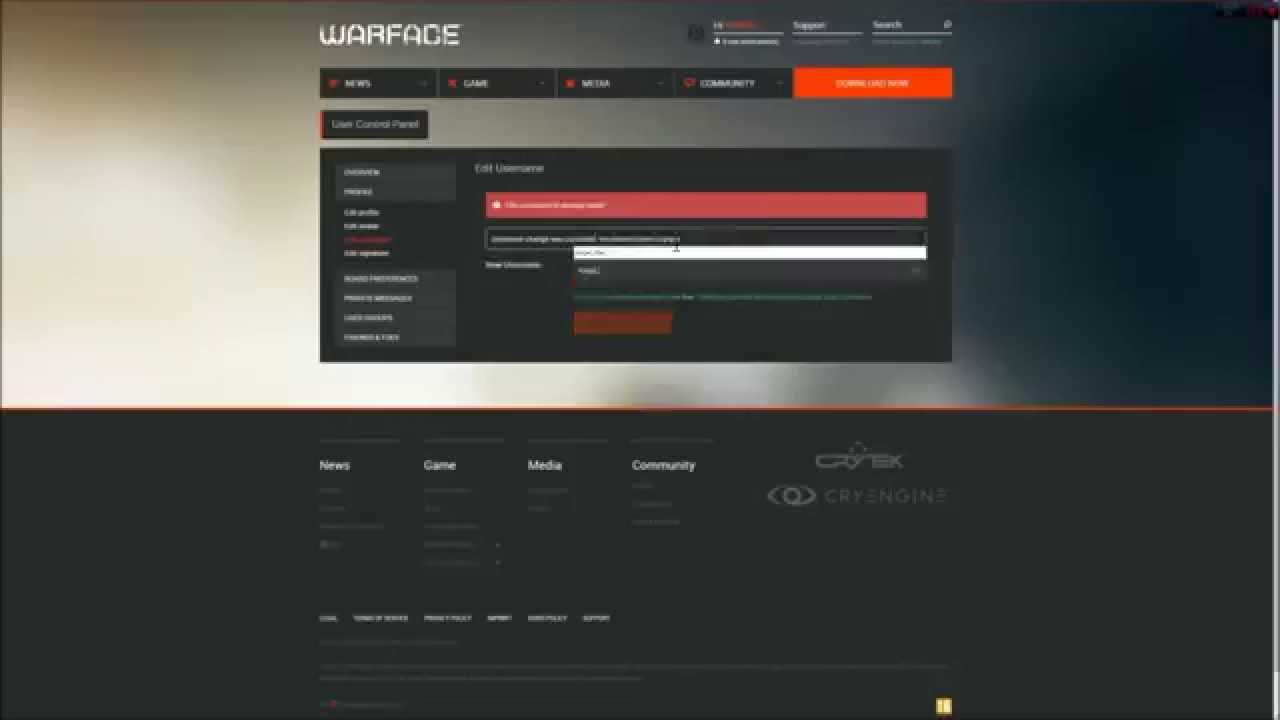 warface how to change name