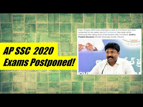 AP SSC Exam 2020 Postponed   AP 10th New Time Table 2020 Soon