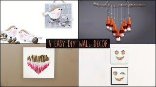 4 Easy DIY Wall Decor    Wall Hanging Ideas