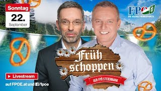 Frühschoppen der FPÖ am Oktoberfest Hartberg mit Herbert Kickl und Mario Kunasek