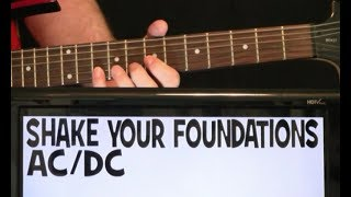 AC/DC Shake Your Foundations Guitar Lesson with Chords TAB and Solo Tutorial