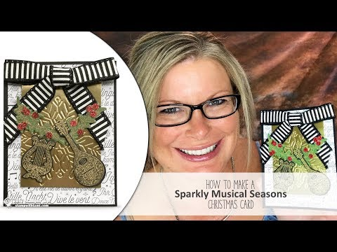 How to make a Sparkly Musical Seasons Wow Christmas Card featuring Stampin Up