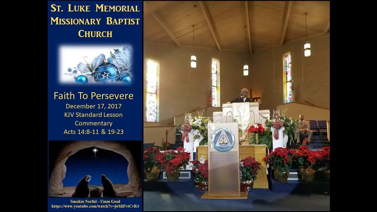 Sunday School Lesson - Faith To Persevere 12172017 - SLM Sunday School  Teacher's Meeting