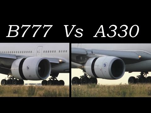 Boeing 777 vs. Airbus A330 | Engines Reverse