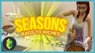 BATHROOM CAKE - Part 37 - Rags to Riches (Sims 4 Seasons)