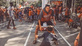 Kamaka Hepa Mic'd up at All for Texas Basketball Experience [Oct. 20, 2019]