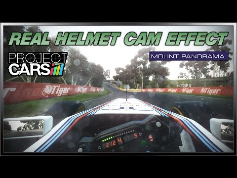 Project cars  real helmet cam effect formula a mount panorama
