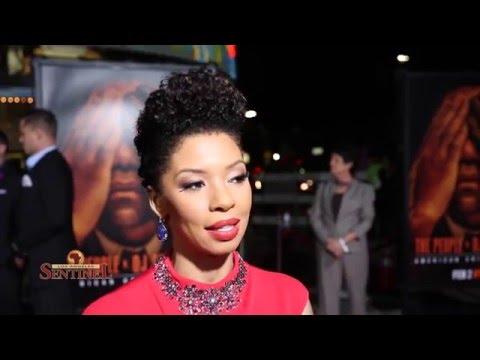 Cast Member Angel Parker at the People V. O.J. Simpson Red Carpet
