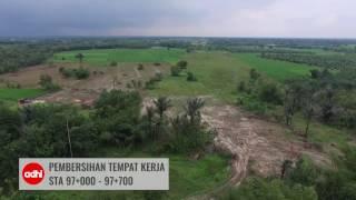 Kondisi  Pembebasan Lahan Proyek Tol Trans Sumatera Ruas Kota Baru - Metro (Per 25 Februari 2017)