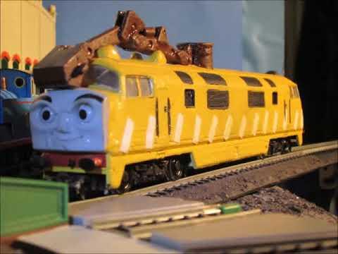 Thomas and the Magic Railroad  james & thomas meet diesel 10 HO remake