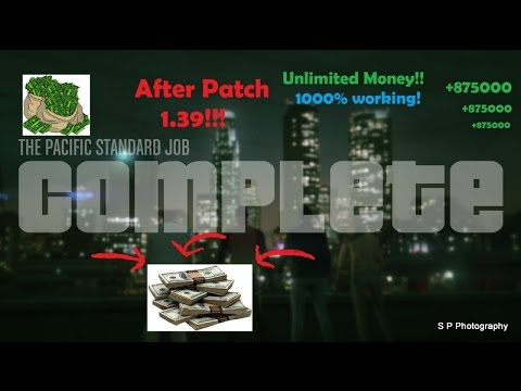 Pacific Standard Job Glitch | GTA 5 online | Unlimited money | Latest 2017 | After Patch 1.39| PS4