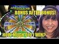 BONUS AFTER BONUS! HOW MUCH DID I WIN?
