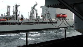 Underway Replenishment Of A Nuclear Aircraft Carrier (1080p)
