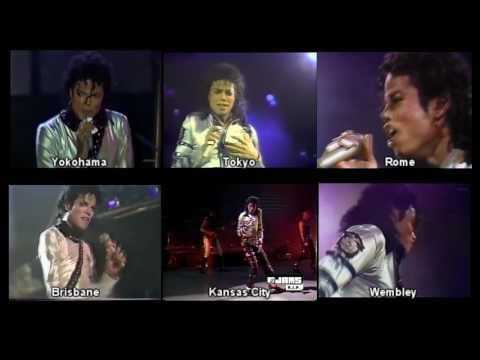 Michael Jackson - Heartbreak Hotel - Bad Tour - Comparison 87-88