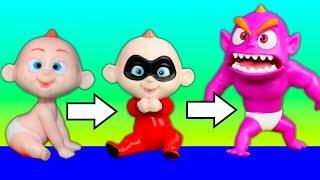 Incredibles 2 Baby Jack Jack Transforms Using Vampirina Rock N Roll Tour Bus
