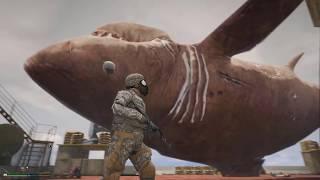 Gta 5: Военные поймали мегалодона - нападаю на их базу