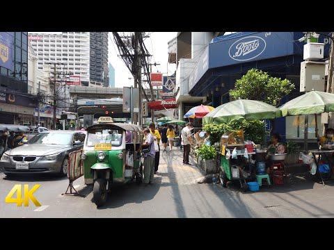 Charoen Krung Road, Bangkok walking tour 4k 60fps