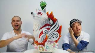okami f4f presents the making of amaterasu life size bust