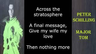 Peter Schilling - Major Tom (Lyrics)