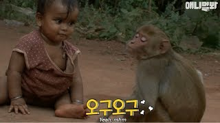 A monkey as a babysitter...?!