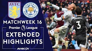 Aston Villa v Leicester City  PREMIER LEAGUE HIGHLIGHTS  120819  NBC Sports