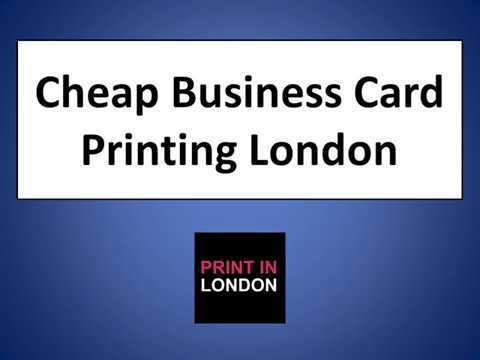 Cheap Business Card Printing London Print In London Youtube