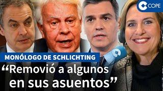 Schlichting reacciona ante Felipe González y su intervención en el Congreso del PSOE