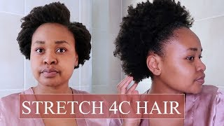 HOW I STRETCH MY AFRO | Shrinkage to Stretched with NO HEAT