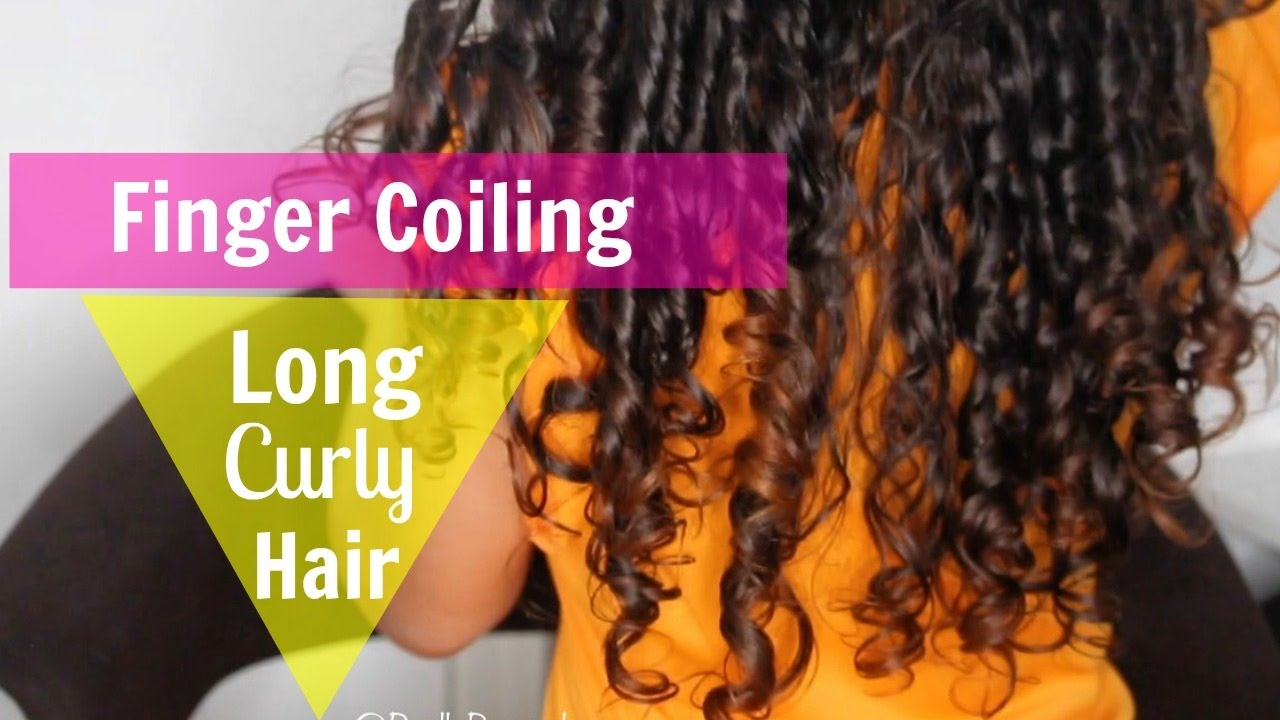 5ab6ce4673 FINGER COIL METHOD ON LONG CURLY HAIR USING SHEA MOISTURE PRODUCTS ...