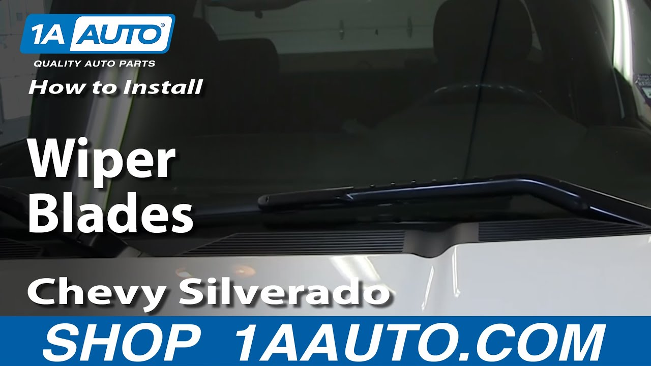 How To Install Replace Wiper Blades 2007 13 Chevy