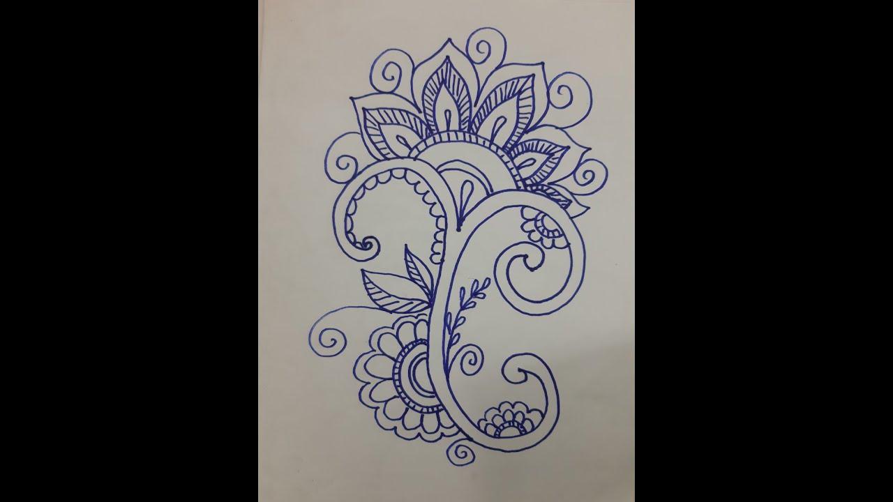 Cách vẽ họa tiết Hoa Lá cách điệu How to draw stylized floral motifs1
