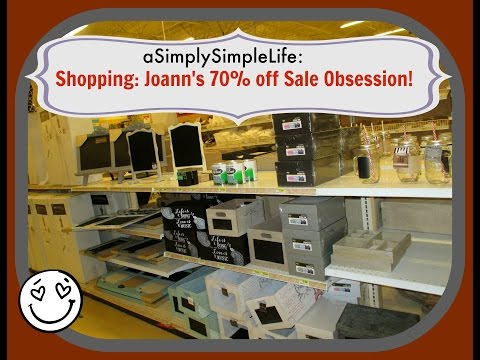 Shopping: Joann's 70% off Sale Obsession! - July 4, 2015 - aSimplySimpleLife Vlog