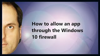 how to Allow a program through the firewall (AVG Internet Security 19.3)
