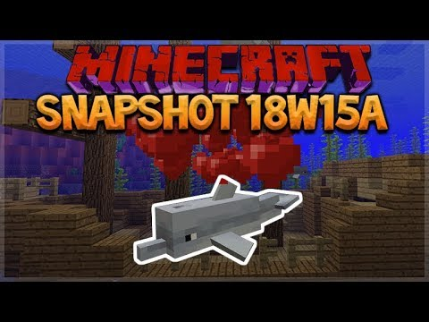Minecraft 1.13: Snapshot 18w15a - NEW Dolphin MOB! Conduit Block & Heart Of The Sea