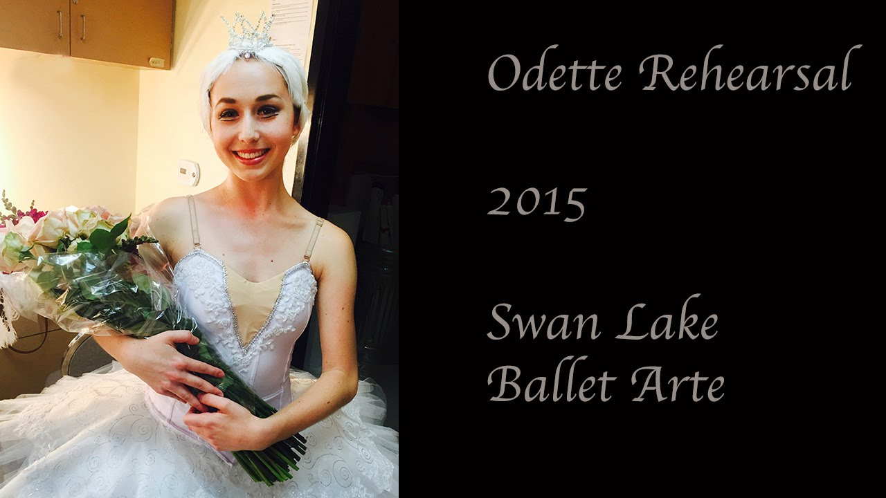 practicing odette for swan lake ballet arte