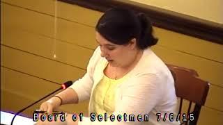 Selectmen Meeting 7/6/15