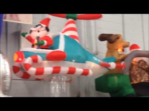 The full Walmart USA Christmas Garden Inflatable range with Santa ...