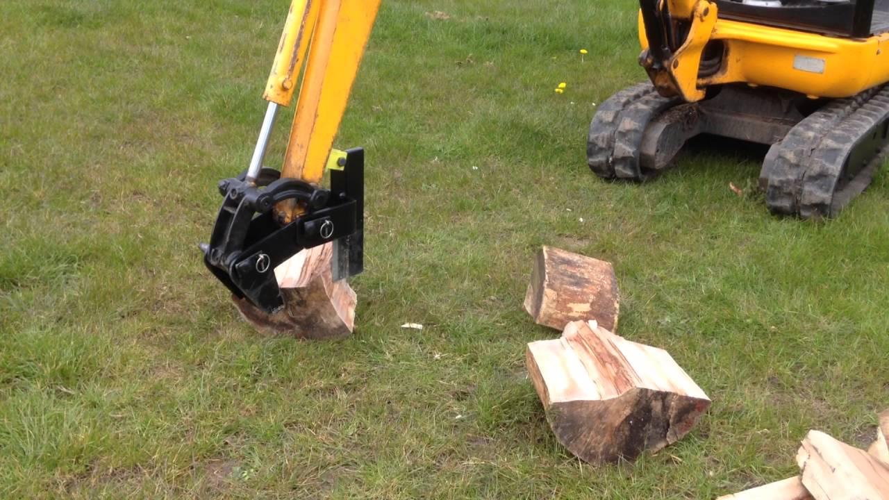 Mini Digger Log Splitter Jcb 801 Kubota Bobcat