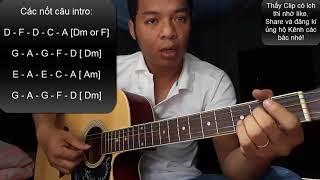 Hướng dẫn guitar Đắp mộ cuộc tình điệu Bolero và cách Intro