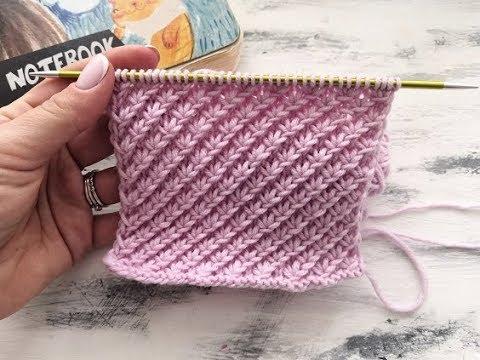 Рельефный узор для вязания спицами варежек