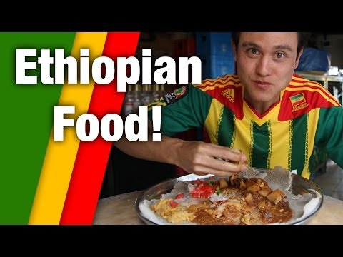 Irresistible Ethiopian Food - Tasty Meat Platter in Addis Ababa, Ethiopia!