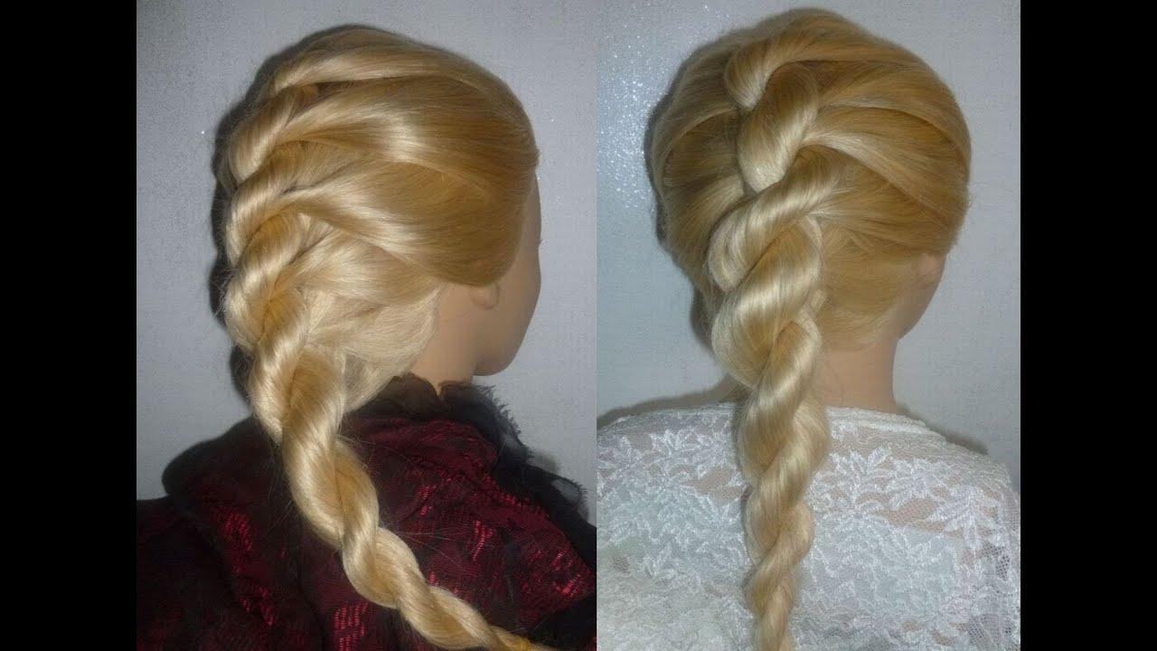 Frisuren gedrehter zopf
