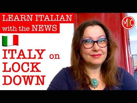 ITALY on LOCKDOWN   LEARN ITALIAN with the NEWS 4
