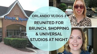 Orlando Shopping & Universal Studios at Night | Vlog 2 | Orlando Vlogs Oct 2018 | Elle and Mimi