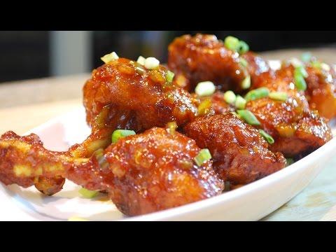 Sweet And Spicy Chicken Lollipop